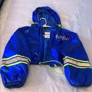 Blue , light green and reflective NASA Jacket